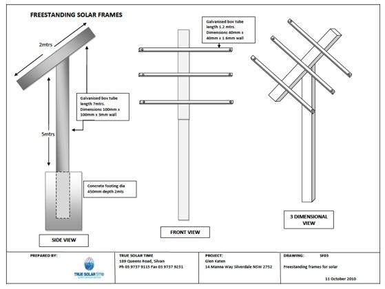 Solar Freestanding Frames - Single Axis Tracker - Dual Axis